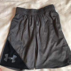Under Armour boys size 7 Grey shorts